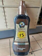 Australian Gold SPF 15 Water Resistant Spray Gel with Instant Bronzer 237ml