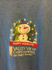 Happy Holidays Valley View Casino, Ca Tee T-Shirt Xl players club souvenir item