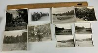 Original WWII Photo Lot of 10 US Army Soldiers in Germany Uniforms Ceremony