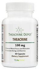 Theacrine (Teacrine) - Energy and Stamina Boosting Supplement - 100 Mg - 60 Caps