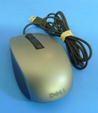 Genuine Dell USB Wired 6 Button Silver Laser Scroll Mouse MOCZUL Y357C
