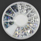 Top Nail 1 Wheel Style Acrylic Crystal Nail 3D Art Manicure Decoration ZP074