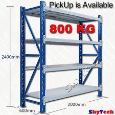 2M*2.4M*0.6M Storage  Garage Warehouse Rack Shelving Bench Steel  800KG 7-2024BG