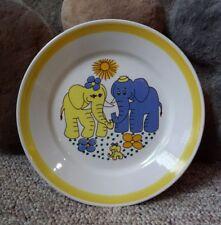 VTG Stavengerflint Lillefant Design Elephant Plate Inger Waage Underglaze Norway