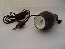 Antike Leuchte Bakelit Trafo Handlampe 220volt / 6volt Lampe Rarität