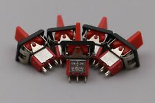 10Pcs Red T80-R Momentary (ON)-OFF-(ON) 3Pin SPDT Mini Paddle Toggle Switch