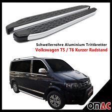 Schwellerrohre Alu Trittbretter VW T5 / T6 Kurzer Radstand ab 2003 Blackline 213