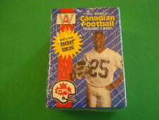 1991 AW SPORTS ALL WORLD CANADIAN FOOTBALL TRADING CARDS UNOPENED SET