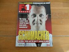 F1 RACING MAGAZINE NOV 2008 #153  SCHUMACHER ON LEWIS, FELIPE & BEST F1 SEASON