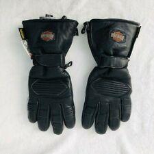 Black Silver Harley Davidson Made with Kevlar Heated Gloves