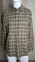 The North Face Men's Plaid Long Sleeve Button Down Shirt Size M Olive Medium