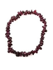 Gem Chip Bracelet Gemstone Garnet Crystal Jewellery Reiki Charged