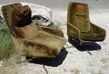 paire de fauteuils pivotants design chrome 70 arm chair