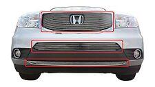 GTG 2012 - 2015 Honda Pilot 3PC Polished Overlay Billet Grille Grill Kit