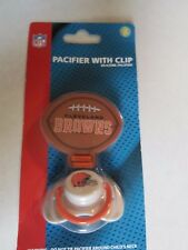 NFL CLEVELAND BROWNS Baby Toddler Pacifier with Clip NEW SEALED NIP