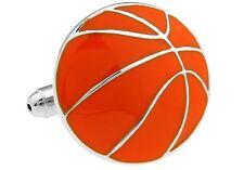 Basketball Cufflinks Orange Silver Hoops Wedding Fancy Gift Box Free Ship USA