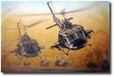 Guns Up by Joe Kline - UH-1C Huey gunship - Helicopter Art Prints