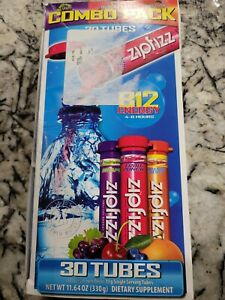 ZIPFIZZ HEALTHY ENERGY w/B12~30 Tubes. Exp-5/22. NEW & SEALED! Free Ship!