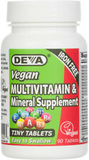DEVA Vegan Tiny Tablets Multivitamin & Mineral Supplement Iron-Free - 90 Tablets