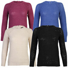 Women's Acrylic Blend Crew Neck Long Sleeve Jumpers & Cardigans