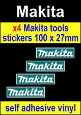 4 Makita tools sponsor stickers red motorsport van toolbox workshop car decals B
