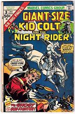 GIANT-SIZE KID COLT & THE NIGHT RIDER #3 (VG/FN) 68 Pages 1975 New Ayers Art!