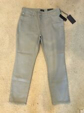 NWT NYDJ Not Your Daughters Jeans MOONSTONE GREY ANKLE Denim $110 Size 14P