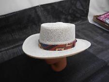 Old Vtg DORFMAN PACIFIC  White Sun Hat Fisherman Apparel Fashion Accessories