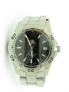 TAG Heuer Aquaracer Black Dial Stainless Steel Swiss Sapphire Crystal 40mm Watch
