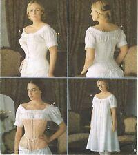 Misses Reenactment Historical Civil War  Chemise Corset Costume Pattern 6-12