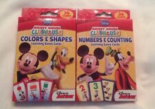 Disney Mickey Mouse Clubhouse Set Of 2 Flash Cards Color& Shapes, Numbers New