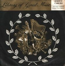 """ENRICO CARUSO library of great music 7"""" PS EX/EX GM 133"""