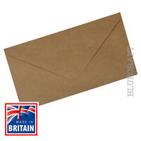 100 x DL Brown Ribbed Kraft 100gsm Envelopes 220 x 110 mm - 8.66 x 4.33 inches