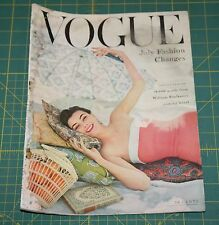 July Vogue 1954 Rare Vintage Vanity Fair Fashion Design Collection Magazine