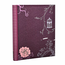 Purple Vintage Bird Photo Album Large Self Adhesive 20 sheets  40 Sides -CL-DT40
