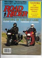 Road Rider Magazine June 1988- Kawasaki ZG1000 Concours, Suzuki GSX1100 Katana
