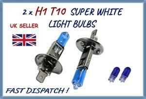 FITS CITROEN C4 PICASSO 2 x H1 501 HALOGEN SUPER WHITE CAR LIGHT BULBS MAIN BEAM