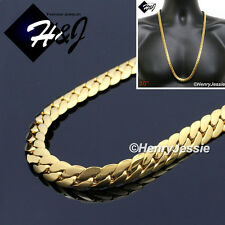 "30""MEN's Stainless Steel 8mm Gold  Miami Cuban Curb Link Chain Necklace*GN155"