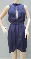 MAURIE & EVE Dress Size 8 Party Cocktail Silk Designer Summer Mini Womens Purple