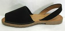 NEW WOMEN'S FAUX SUEDE PEEP TOE SLING BACK LOAFER FLAT SANDALS SODA ONE
