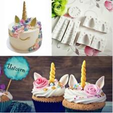 Silicone Unicorn Head Horn Cake Fondant Mold Horse Eye Eyelash Baking Mould HC