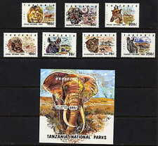 TANZANIA 1993 AFRICAN ANIMALS STAMPS SET AND  SHEET MINT COMPLETE - $7.25 VALUE!