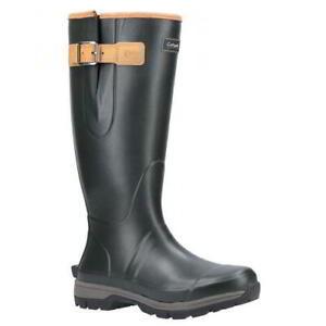 Cotswold Stratus Mens Neoprene Wellies Wellington Boots Green Size 7-12