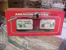 AMERICAN FLYER,,,,,,48319....1993 CHRISTMAS BOXCAR