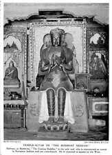 1913 Temple Altar To The Buddhist Messiah Seated European Fashion