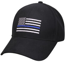 police hat baseball cap ballcap us flag thin blue line rothco 99885