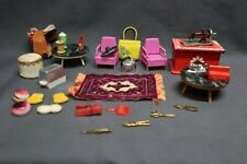 Vintage Lot Of Doll House Furniture And Many Other Items Pieces US JP GER