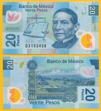 p122m//Series X//Prefix J UNC Mexico 20 Peso 10.6.2013