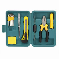 10Pcs DIY Hand Tool Kit Box For Home Repair Kit Household Set Toolbox Set