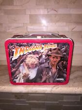 INDIANA JONES AND THE TEMPLE OF DOOM THERMOS LUNCH BOX 1984 DENTED